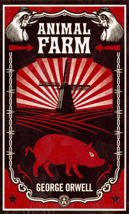 Animal Farm Book Cover by Shepard Faireynew for Orwell's Animal Farm Published 2008